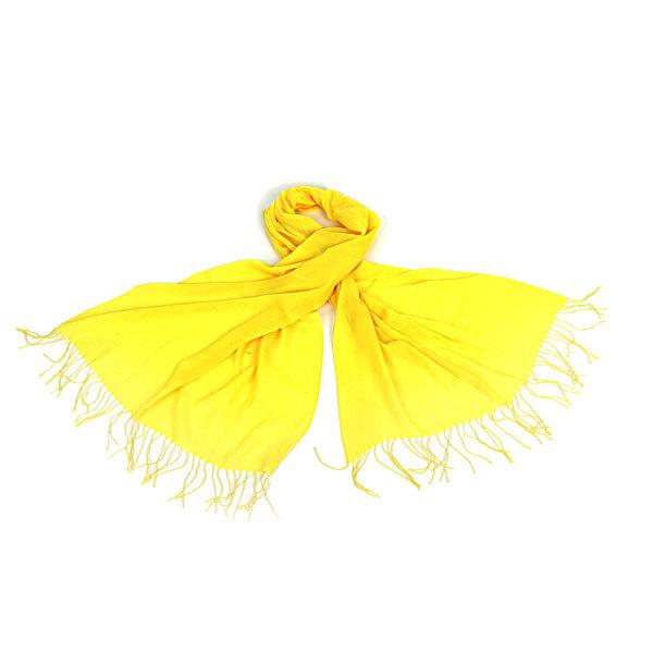 Шарф ″Однотонный″, цвет желтый, 170*70см купить оптом и в розницу