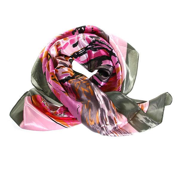 Платок женский ″Картина″, микс 6 цветов, полиэстер, 90*90см купить оптом и в розницу