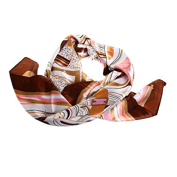 Платок женский ″Сумочки″, микс 6 цветов, полиэстер, 90*90см купить оптом и в розницу