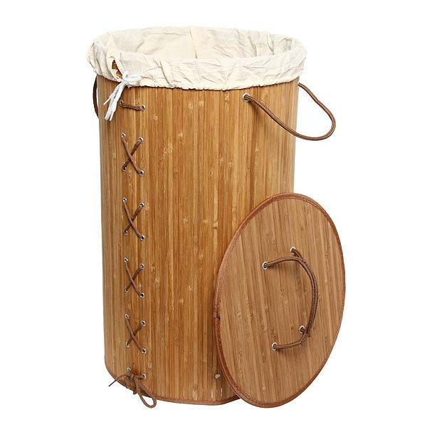 Корзина для белья бамбук 35х60 BK01/11 Natural купить оптом и в розницу