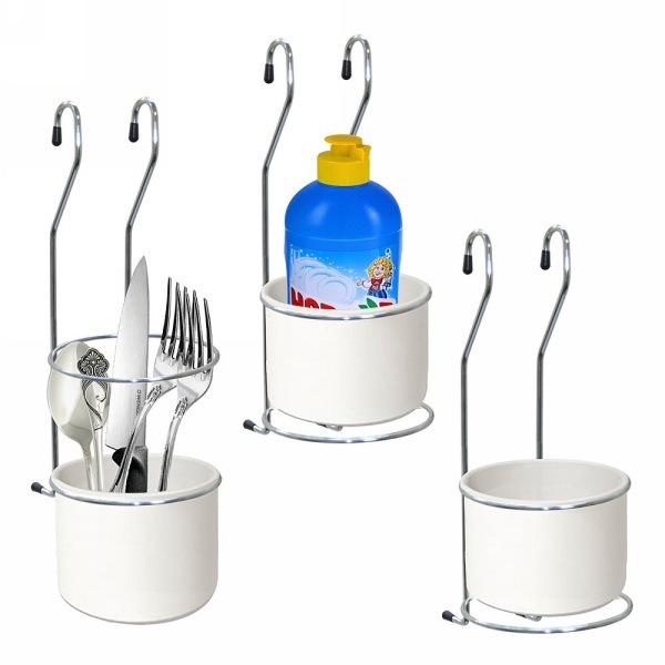 Подставка для столовых приборов навесная на рейлинг купить оптом и в розницу