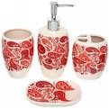 Набор для ванной из 4-х предметов керамический 12806-8 купить оптом и в розницу