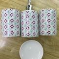 Набор для ванной из 4-х предметов керамический 11225-34 купить оптом и в розницу