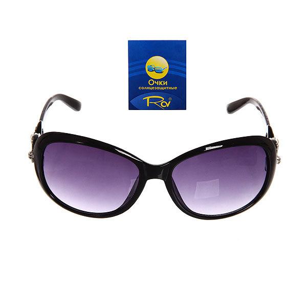 Очки солнцезащитные женские, форма овальная ″Тиана″, цвет черный купить оптом и в розницу
