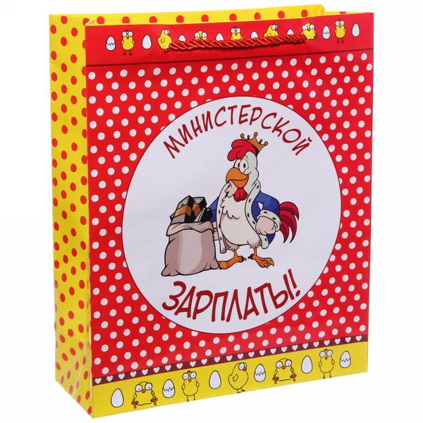Пакет 26х32 см глянцевый ″Министерской зарплаты″, Отважные курицы, вертикальный купить оптом и в розницу