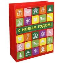 Пакет подарочный 26х32 см вертикальный ″С новым годом!″, Интернет купить оптом и в розницу