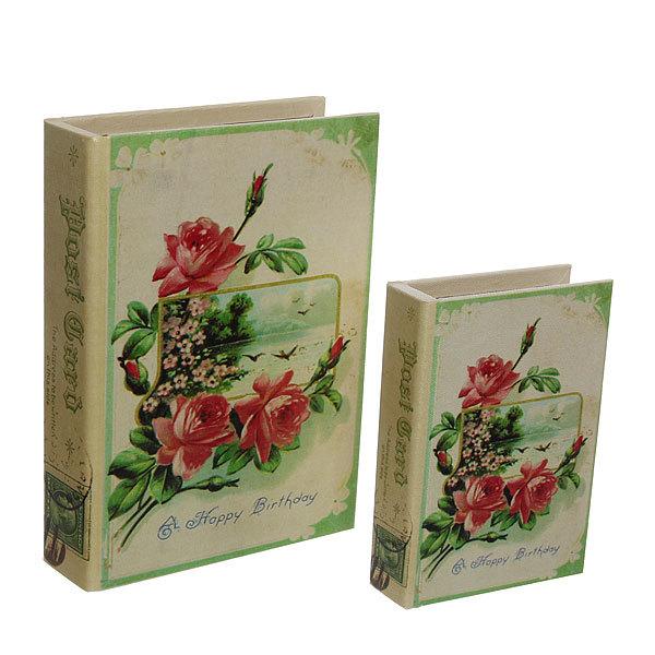 Шкатулка ″Carte postale С Днем Рождения″ (набор 2шт) дерево HLH9302 купить оптом и в розницу