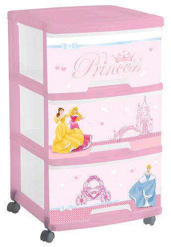 Комод DISNEY PRINCESS (371*387*611) 3х20 л Curver прозрачный/розовый купить оптом и в розницу