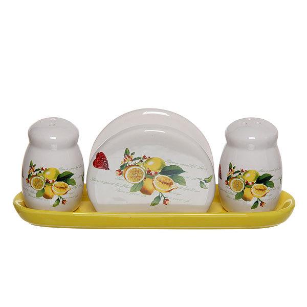 Набор для специй на подставке 3 шт ″Лимон″ S5007-2 купить оптом и в розницу