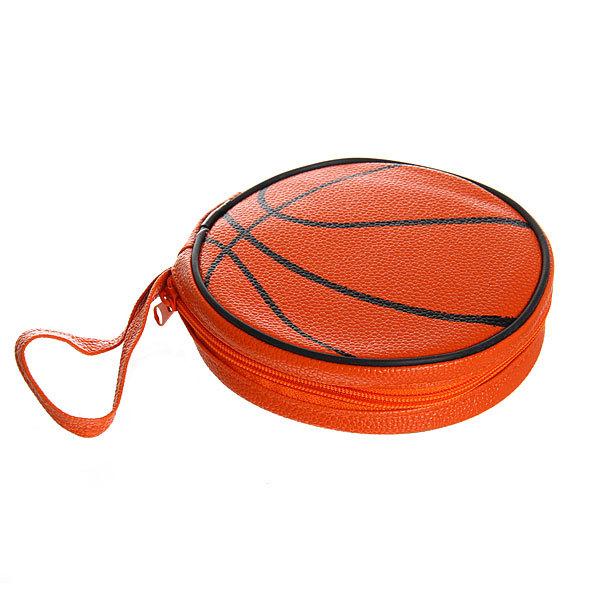 Футляр для CD 40 кожзам ″Мяч баскетбольный″ d-15см 104004-3 купить оптом и в розницу