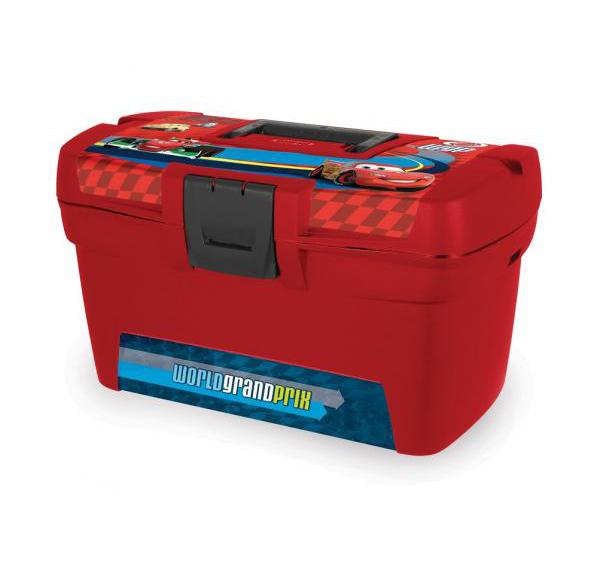 """Ящик для игрушек13"""" DISNEY CARS(330*200*160)  Curver красн./cars /4 шт купить оптом и в розницу"""