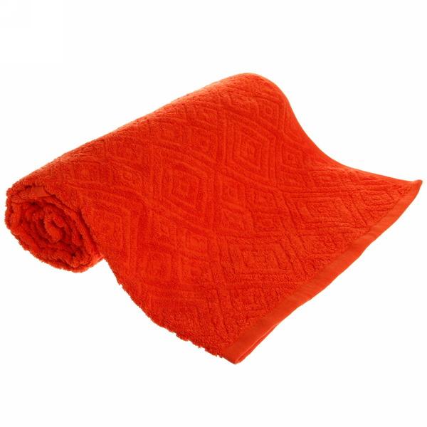 Махровое полотенце 70*140см морковное жаккард ЖК140-2-005-037 купить оптом и в розницу