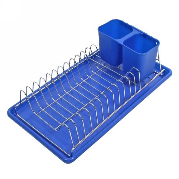 Сушилка для посуды 38*18см металлическая, пластиковый поддон купить оптом и в розницу