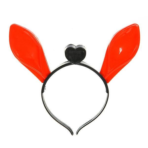 Ободок карнавальный с подсветкой ″Уши Зайца″ красные купить оптом и в розницу