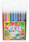 Фломастеры 10цв Летний фрукты п/у смываемые купить оптом и в розницу