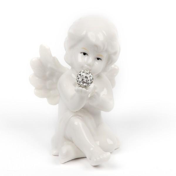 Фигурка из керамики ″Ангелочек с бриллиантом″ 7*5см 0298 купить оптом и в розницу