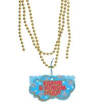 Новогодние бусы 1,3 м золотые с подвеской ″Удачи в Новом году!″ купить оптом и в розницу