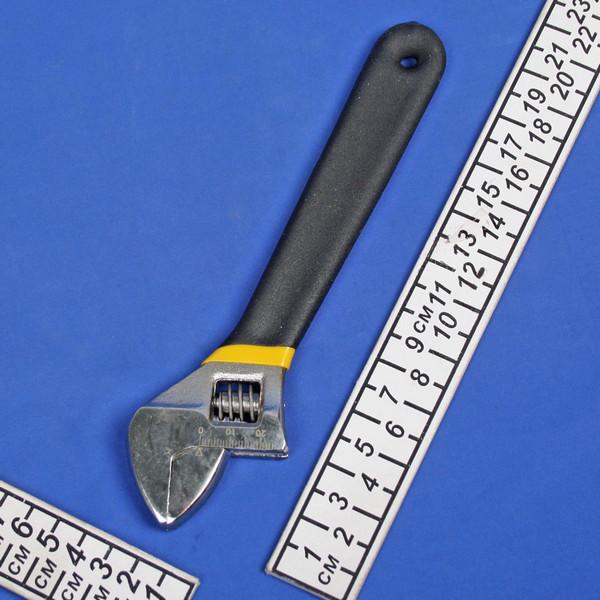 Ключ разводной 8″ 200мм, обрезиненная ручка купить оптом и в розницу