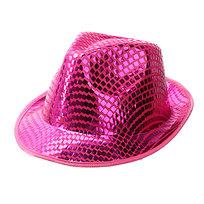 Шляпа карнавальная ″Модная шляпа″ ярко-розовый цв. 020-1 купить оптом и в розницу