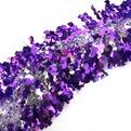 Мишура новогодняя 2 метра 10см ″Фиолетовые волны″ фиолетовый, серебро купить оптом и в розницу