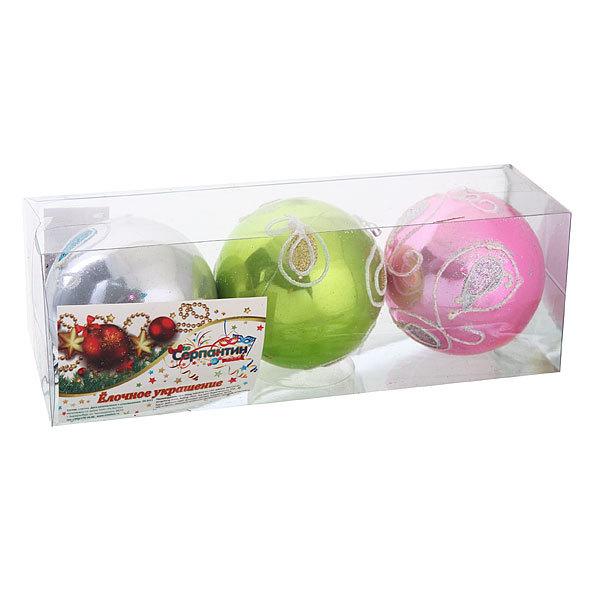 Новогодние шары ″Ледовый восторг″ 8см (набор 3шт.) купить оптом и в розницу