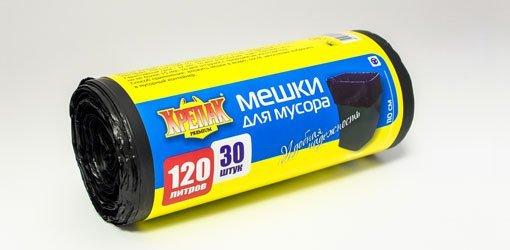 пакеты д/мусора в рулоне 120л/30шт. (крепак) 1*10 купить оптом и в розницу