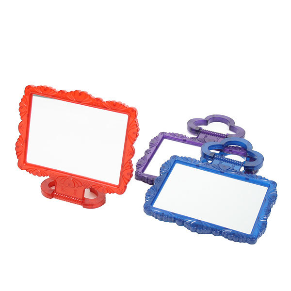Зеркало настольное в пластиковой оправе ″Резная окантовка″ прямоугольник, подвесное 15*12,5см купить оптом и в розницу