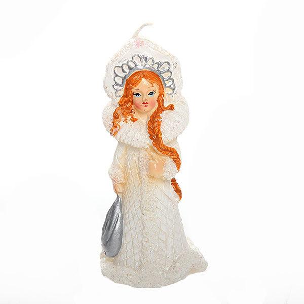 Свеча Новогодняя ″Снегурочка в кокошнике″ 15 см купить оптом и в розницу