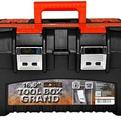 """Ящик для инструментов GRAND SOLID 16,5"""" черный/оранжевый *9 купить оптом и в розницу"""
