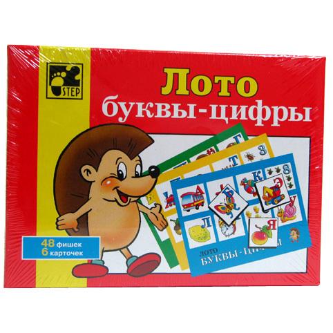 Лото Буквы и Цифры 80301 Степ /40/ купить оптом и в розницу