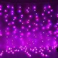 Занавес светодиодный ш 2 * в 1,6м, 200 ламп LED, Шар, RGB(красный, зеленый, синий), 8 реж, прозр.пров. купить оптом и в розницу