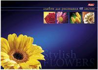 """Альбом д/рис.А4 40л, HATBER, """"Магия цветов"""",выб.лак,отрыв.склейка купить оптом и в розницу"""