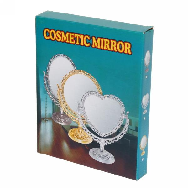 Зеркало настольное в пластиковой оправе ″Версаль - Прямоугольник″ цвет бронза, двухстороннее 22см купить оптом и в розницу