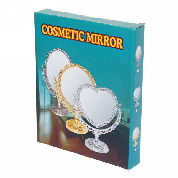 Зеркало настольное в пластиковой оправе ″Версаль - Прямоугольник″ цвет бронза, двухстороннее. с увеличением 22см купить оптом и в розницу