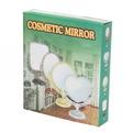 Зеркало настольное в пластиковой оправе ″Версаль Винтаж Прямоугольник″ цвет серебро, двухстороннее 26см. купить оптом и в розницу