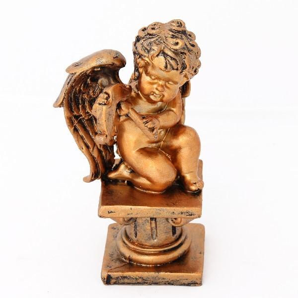 Статуэтка из полистоуна ″Ангел Амур″ под бронзу 16*10см QD7743-7742 купить оптом и в розницу
