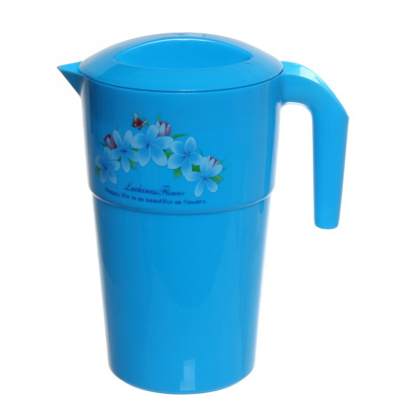 Кувшин пластиковый 1,2л ″Цветы″ микс купить оптом и в розницу