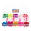 Набор резинок для плетения браслетов 2000шт 10 цветов Прямоугольный купить оптом и в розницу