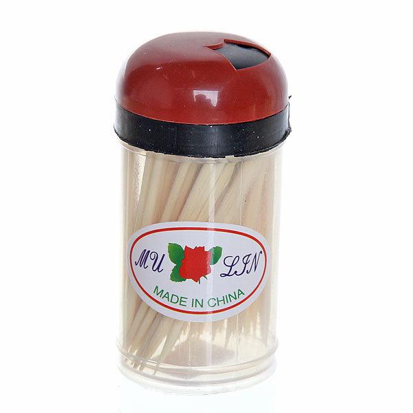 Зубочистки 100шт ″Toothpick″ в пластиковой банке купить оптом и в розницу