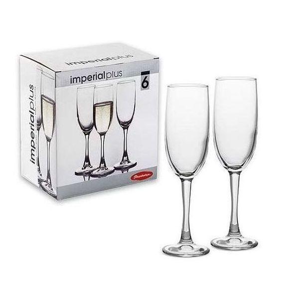 Набор фужеров д/шампанского ИМПЕРИАЛ 6 шт. 155 мл. (1/4) купить оптом и в розницу