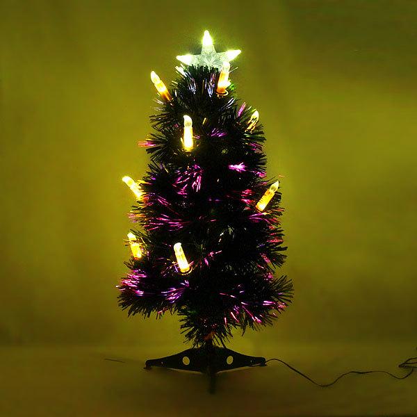 Елка светодиодная 60 см оптоволокно +10 свечей купить оптом и в розницу
