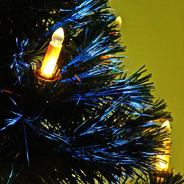 Елка светодиодная 90 см оптоволокно +16 свечей купить оптом и в розницу