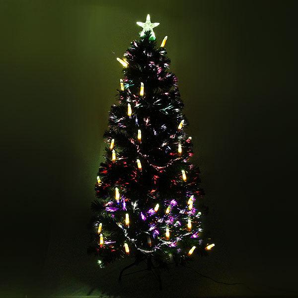 Елка светодиодная 180 см оптоволокно + 36 свечей купить оптом и в розницу