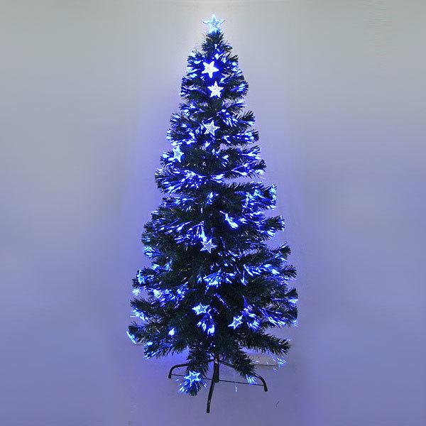 Елка светодиодная 150 см оптоволокно + 20 звезд купить оптом и в розницу