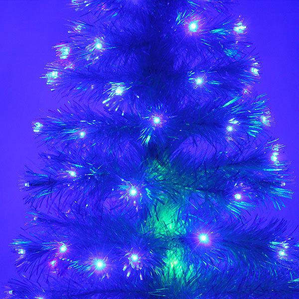 Елка светодиодная белая 90 см оптоволокно + 90 веток+90 ламп купить оптом и в розницу