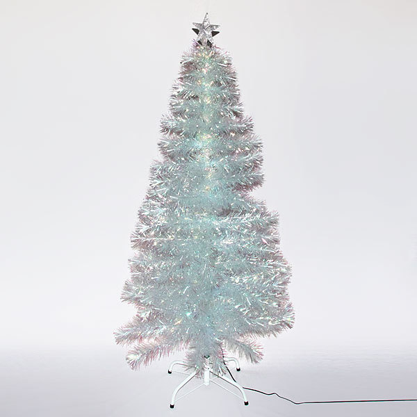 Елка светодиодная белая 150 см оптоволокно + 180 веток+180 ламп купить оптом и в розницу