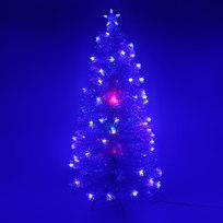 Елка светодиодная белая 90 см оптоволокно + 40 звезд купить оптом и в розницу