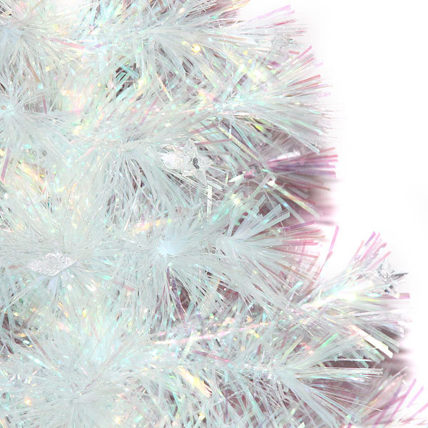 Елка светодиодная белая 150 см оптоволокно + 64 звезды купить оптом и в розницу