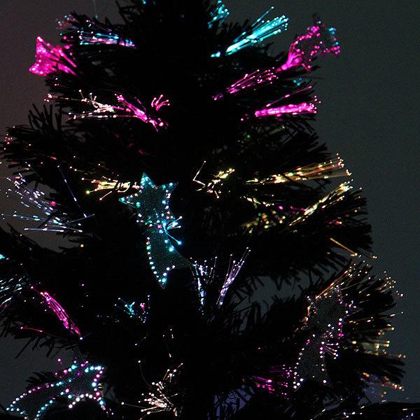 Елка светодиодная черная 90 см оптоволокно + 12 комет купить оптом и в розницу