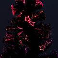 Елка светодиодная черная 150 см оптоволокно + 20 комет купить оптом и в розницу